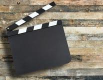 Bräde för filmproduktionclapper Arkivfoton