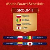 Bräde för fotbollturneringmatch med den ryska etniska garneringvektorillustrationen vektor illustrationer