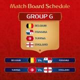 Bräde för fotbollturneringmatch med den ryska etniska garneringvektorillustrationen stock illustrationer
