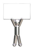 brädediagram metallisk holdingman Royaltyfri Fotografi