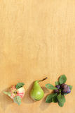 Brädefruktmeny Royaltyfria Bilder