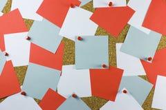 brädeinformationskork arkivfoto