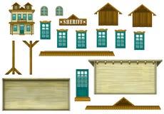 Brädelek - gyckel som ska konstrueras - illustration för barnen Arkivfoto