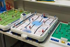 Brädelekar: hockey och fotboll Royaltyfri Foto