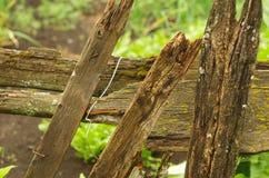 Bräden av ett gammalt staket med formen Royaltyfria Foton