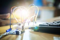 Bräden för sats DIY för elektronisk kontroll sänker orienteringsseminariumdelen Fotografering för Bildbyråer
