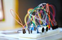 Bräden för sats DIY för elektronisk kontroll sänker orienteringsseminariumdelen Arkivbilder
