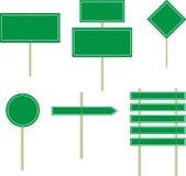 Bräden för trafiktecken stock illustrationer