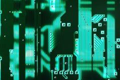 brädeströmkretsgreen Arkivfoton