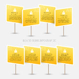 Brädetecken Infographic Royaltyfri Bild