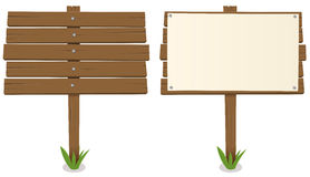 brädetecknad filmträ vektor illustrationer