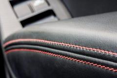 Bräm för läder för sportbil arkivfoton
