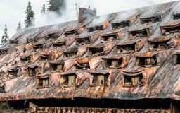bränd byggnad Arkivfoto