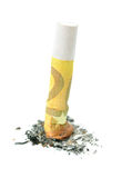 bränd cigaretteuro ut arkivfoto