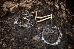Bränd cykel Royaltyfria Foton