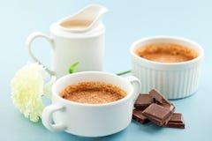 bränd fransk chokladpralinefterrätt Royaltyfri Bild