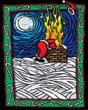 Bränd jultomten Arkivfoton