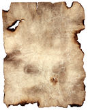 bränd paper parchment Fotografering för Bildbyråer