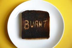 bränd rostat bröd Royaltyfria Bilder