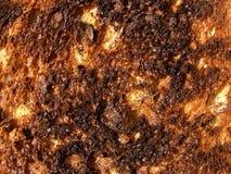 bränd rostat bröd Arkivfoton
