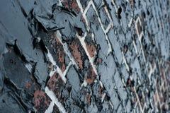 Bränd tegelstenväggtextur 3 Arkivbilder