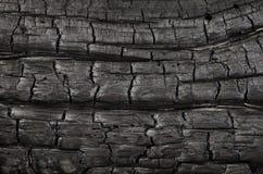 Bränd wood textur, bakgrund Arkivfoton