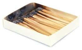 Brända matchsticks Royaltyfria Bilder