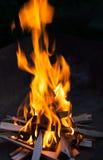 brända restauranger för natt en för brandgolvhus ut tre två Arkivbild