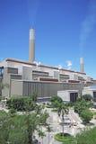 Bränna till kol den Burning strömstationen Royaltyfri Fotografi