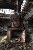 bränna till kol den industriella ugnen Royaltyfri Fotografi