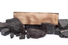 bränna till kol den träetiketten royaltyfri fotografi
