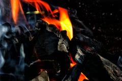 Bränna till kol och avfyra Arkivbilder