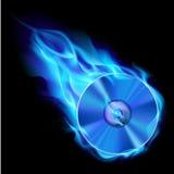 brännande cd för blue Royaltyfria Bilder