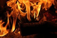 Brännande journaler Fotografering för Bildbyråer