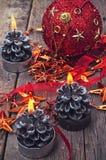 Brännande stearinljus Royaltyfria Bilder