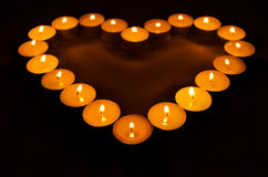 Brännande stearinljus. Fotografering för Bildbyråer