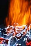 bränner till kol varmt royaltyfri foto