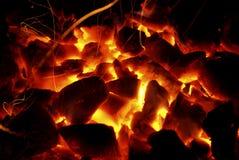 bränner till kol varmt royaltyfri fotografi