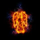 brännhet ängel Arkivfoto