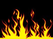 brännhet bakgrund Arkivfoto