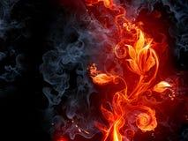 brännhet blomma vektor illustrationer