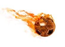 Brännhet boll på vit Royaltyfri Foto