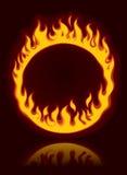 brännhet cirkel Arkivfoto