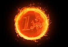 brännhet euro royaltyfri illustrationer