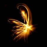 brännhet fractal royaltyfri illustrationer