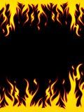 brännhet kant vektor illustrationer