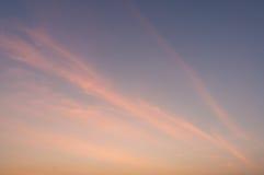 Brännhet orange solnedgånghimmel Härlig sky Royaltyfria Bilder