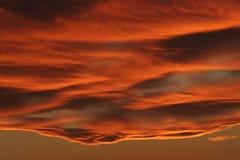 brännhet sky Fotografering för Bildbyråer