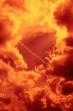 brännhet sky arkivbilder