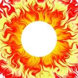 brännhet sol- sun för bakgrund Arkivfoto
